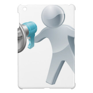Megaphone silver man cover for the iPad mini