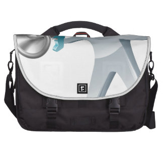 Megaphone silver man laptop commuter bag