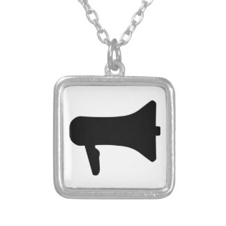 Megaphone Silver Plated Necklace