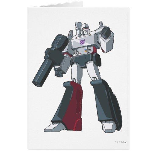 Megatron 1 tarjeta de felicitación