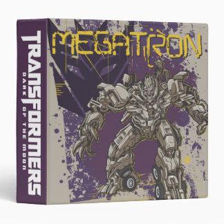 Megatron Badge Purple/Yellow 3 Ring Binder