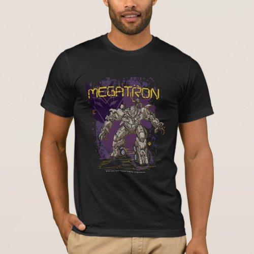 Megatron Badge PurpleYellow T_Shirt