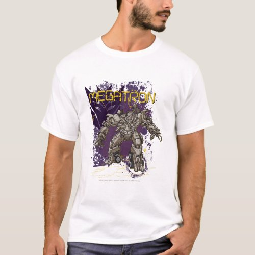 Megatron Badge PurpleYellow T_Shirt