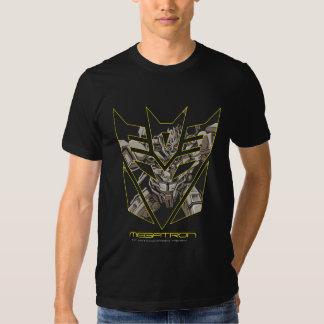 Megatron en el escudo de Decepticon Playeras