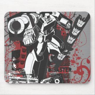 Megatron Grunge Collage Mouse Pad