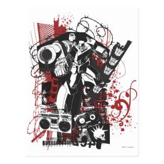 Megatron Grunge Collage Postcard