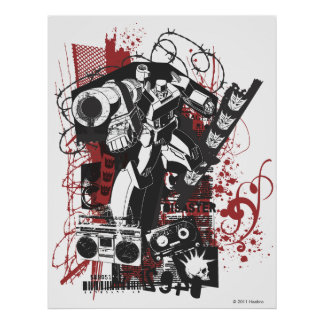 Megatron Grunge Collage Poster