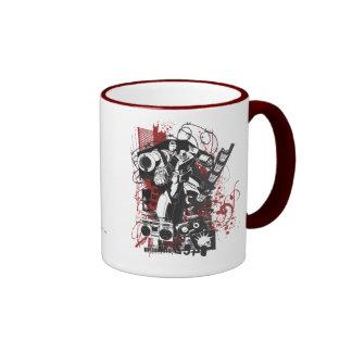 Megatron Grunge Collage Ringer Mug