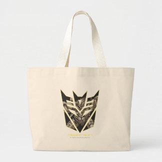 Megatron in Decepticon Shield Large Tote Bag