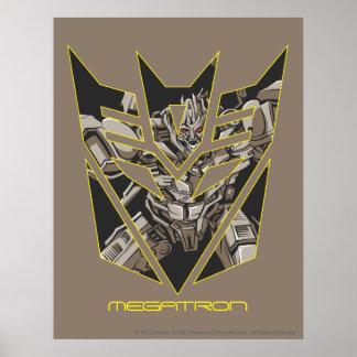 Megatron in Decepticon Shield Poster