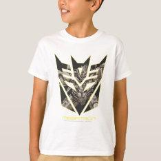Megatron In Decepticon Shield T-shirt at Zazzle