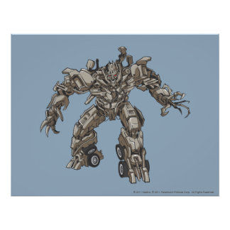 Megatron Line Art 1 Poster