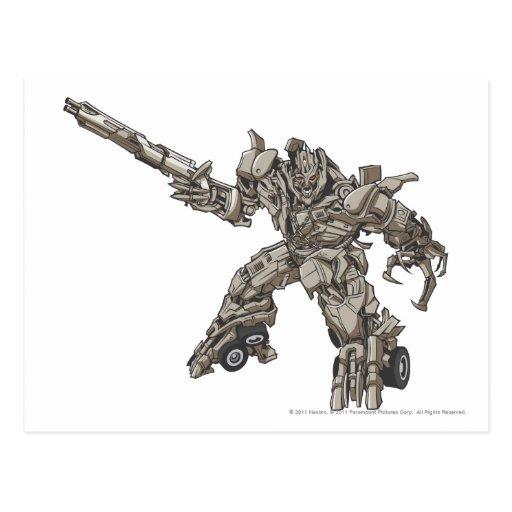 Megatron Line Art 3 Post Card