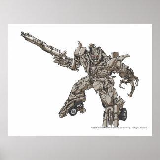 Megatron Line Art 3 Poster
