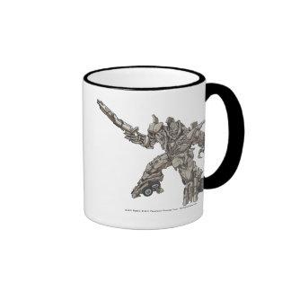 Megatron Line Art 3 Ringer Mug
