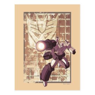 Megatron - pared de ladrillo resistida tarjeta postal