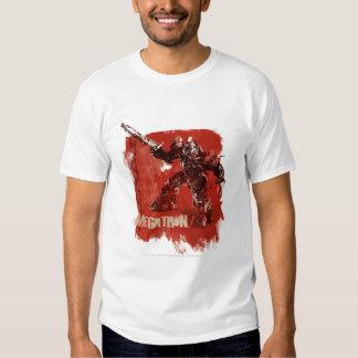 Megatron Stylized Badge Red 2 Tee Shirt