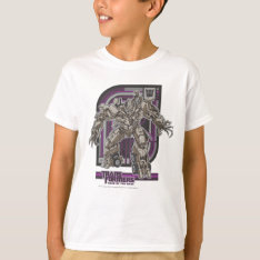 Megatron TF3 Badge Purple/Grey T-Shirt at Zazzle