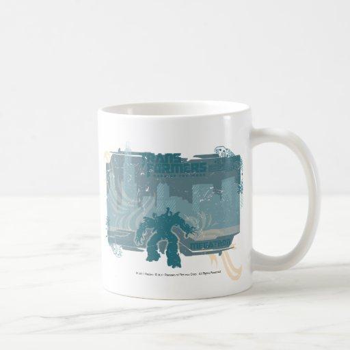 Megatron TF3 Urban Teal Badge Classic White Coffee Mug