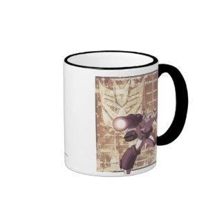 Megatron - Weathered Brick Wall 2 Ringer Coffee Mug