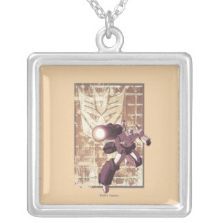 Megatron - Weathered Brick Wall 2 Silver Plated Necklace