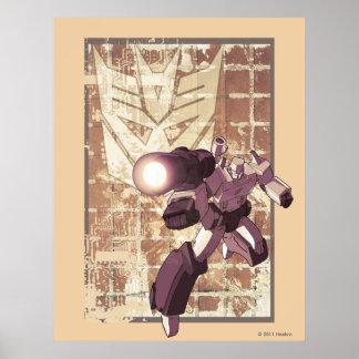 Megatron - Weathered Brick Wall Poster