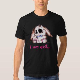 Megg: A cute bunny - I am evil Shirt