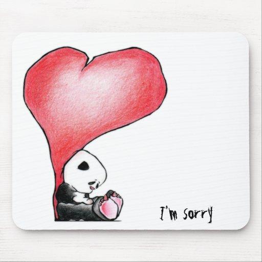 Megg: A cute panda - heart, I'm sorry Mouse Pad