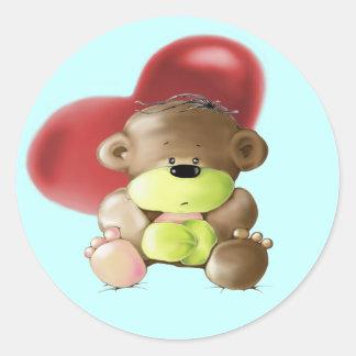 Megg: Un oso de peluche lindo - triste, pegatina