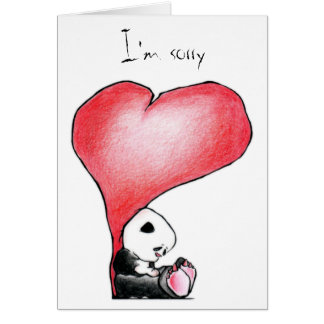 Megg: Una panda linda - corazón, lo siento, Tarjeta De Felicitación