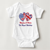 Meghan and Harry The Royal Wedding Baby Bodysuit