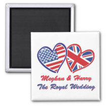 Meghan and Harry The Royal Wedding Magnet