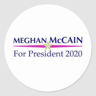 meghan_mccain_pres_2020 classic round sticker