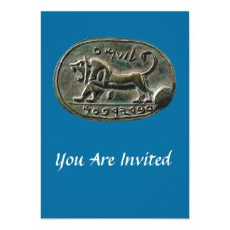 Megiddo Seal 5x7 Paper Invitation Card