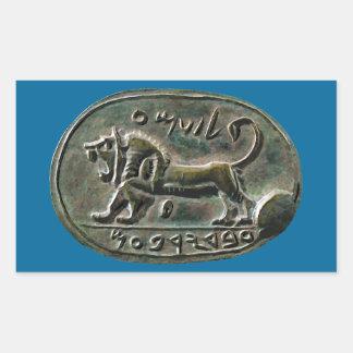 Megiddo Seal Rectangular Sticker
