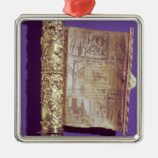Megillah  in a silver case, Vienna, c.1715 Metal Ornament