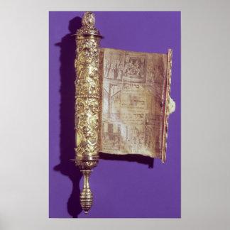 Megillah in a silver case Vienna c 1715 Posters