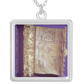 Megillah  in a silver case, Vienna, c.1715 Silver Plated Necklace