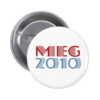 Megohmio 2010 (para el gobernador) pin redondo de 2 pulgadas