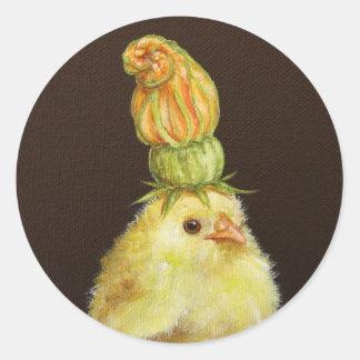 Megohmio el pío con los pegatinas del gorra del pegatina redonda