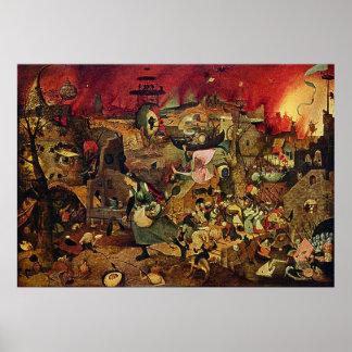 Megohmio enojado de Pieter Bruegel (Dulle Griet) ( Posters