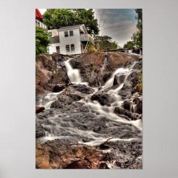 Art Themed Megunticook Falls, Camden, Maine Poster