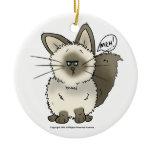 Meh Cat Christmas Ornament