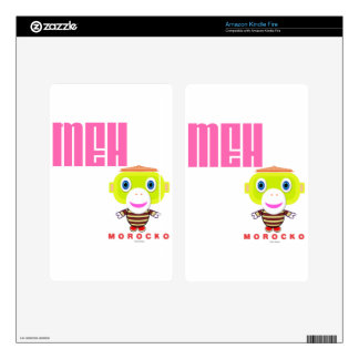 MEH-Cute Monkey-Morocko Decal For Kindle Fire
