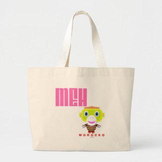 MEH-Cute Monkey-Morocko Large Tote Bag