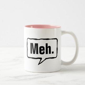 Meh divertido. taza de café en color rosado o de