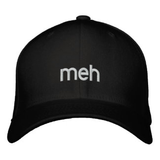 meh embroidered baseball cap