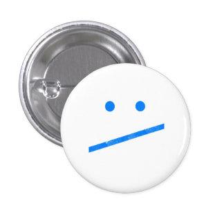 Meh Face Pinback Button