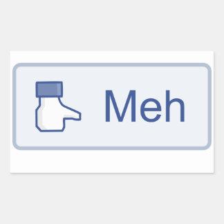 Meh - Facebook Rectangular Sticker