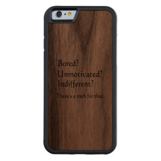 Meh for That - App for that Parody Carved Walnut iPhone 6 Bumper Case